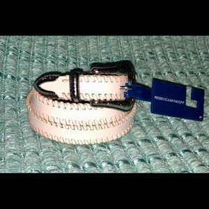 Rebecca Minkoff pink leather belt L